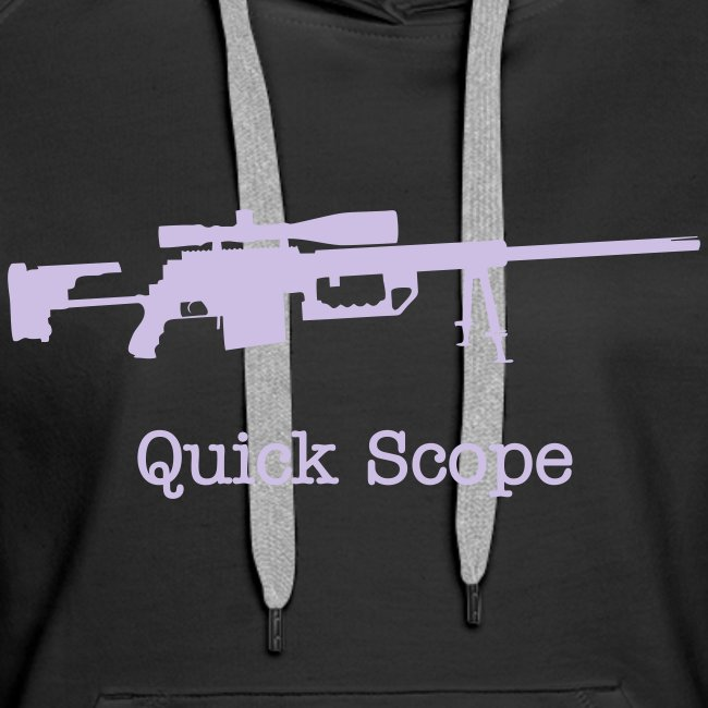 Womens Hoodie : Quick Scope (Lavender)