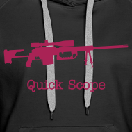 Design ~ Womens Hoodie : Quick Scope (Pink)