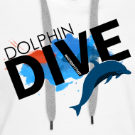 Design ~ Womens Hoodie : Dolphin Dive