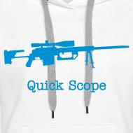 Design ~ Womens Hoodie : Quick Scope