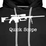 Design ~ Mens Hoodie : Quick Scope