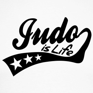 judo is life - retro Tee shirts manches longues - T-shirt baseball manches longues Homme