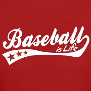 baseball is life - retro T-Shirts - Frauen Bio-T-Shirt