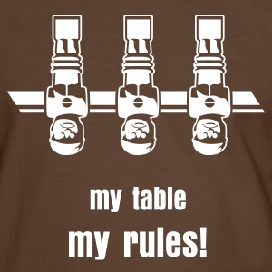 Kickershirt | my table - my rules! - Männer Kontrast-T-Shirt