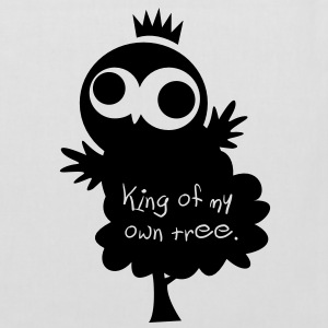 Eine Eule // King of my own tree. // Tasche - Stoffbeutel