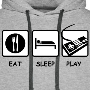 eat Sleep Play Controller Gamer Pullover - Männer Premium Hoodie