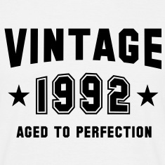 VINTAGE 1992 - Birthday T-Shirt White