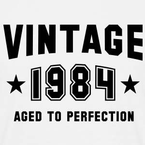 VINTAGE 1984 - Birthday T-Shirt White - Men's T-Shirt