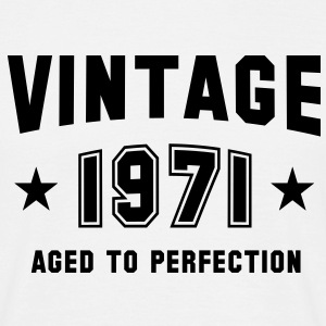 VINTAGE 1971 - Birthday T-Shirt White - Men's T-Shirt