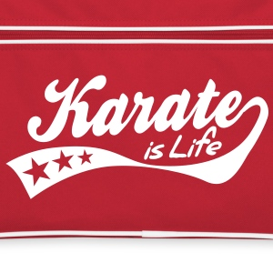 karate is life - retro Borse - Borsa retrò