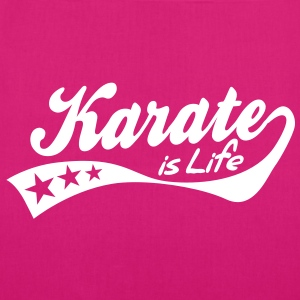 karate is life - retro Bags  - EarthPositive Tote Bag