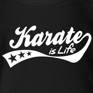 karate is life - retro Body neonato - Body ecologico per neonato a manica corta