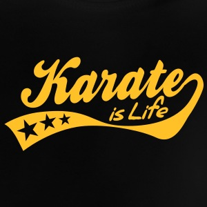 karate is life - retro Babytröjor - Baby-T-shirt