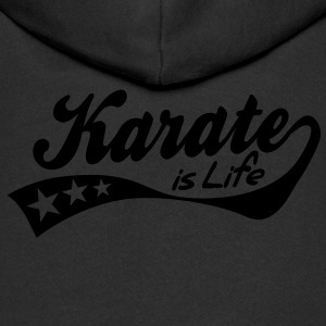 karate is life - retro Kids' Tops - Kids' Premium Zip Hoodie