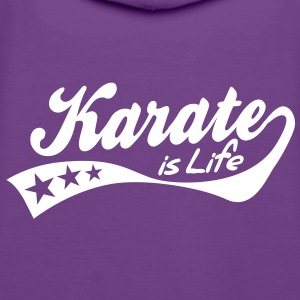 karate is life - retro Sweat-shirts - Sweat-shirt à capuche Premium pour femmes