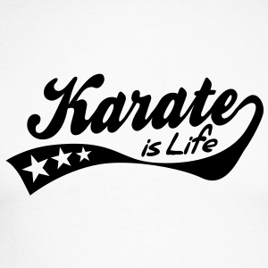 karate is life - retro Camisetas de manga larga - Raglán manga larga hombre