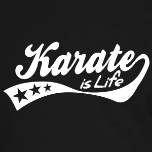 karate is life - retro T-skjorter - Kontrast-T-skjorte for menn
