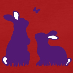 Two rabbits watching a butterfly T-Shirts - Women's Organic T-shirt