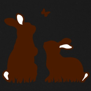 Two rabbits watching a butterfly Umbrellas - Umbrella (small)
