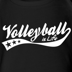 volleyball is life - retro Bodys Bébés - Body bébé bio manches courtes
