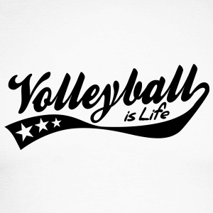 volleyball is life - retro Long sleeve shirts - Men's Long Sleeve Baseball T-Shirt