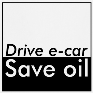 Drive e-car - Save oil - Kochschürze