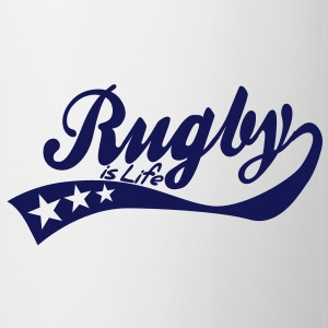 rugby is life - retro Tassen - Tasse