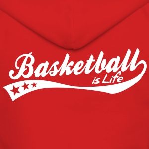 basketball is life - retro Jackets & Vests - Women's Premium Hooded Jacket