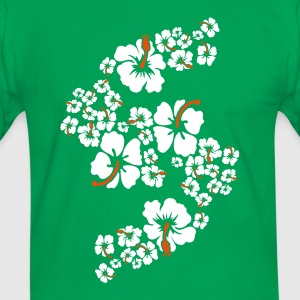 hawaii flower T-shirts - Mannen contrastshirt