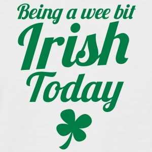 Being a Wee bit IRISH today! with shamrock ST PATS T-Shirts - Men's Baseball T-Shirt