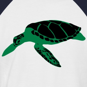 Marine life deep sea ocean turtle tortoise  T-Shirts - Men's Baseball T-Shirt