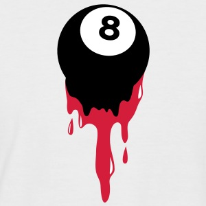 bleeding eight 8 ball from snooker or pool T-Shirts - Men's Baseball T-Shirt