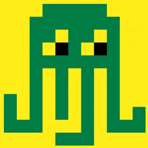 Pixel green octopus - Men's Ringer Shirt
