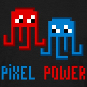 Pixel power octopus - Men's T-Shirt