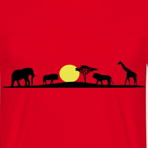 African Savanna, Afrika Wildlife - Men's T-Shirt