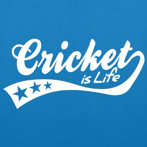 cricket is life - retro Bags  - EarthPositive Tote Bag