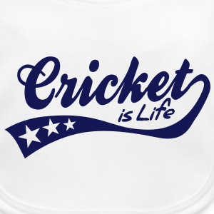 cricket is life - retro Accessories - Baby Organic Bib