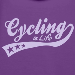 cycing is life - retro Felpe - Felpa con cappuccio premium da donna