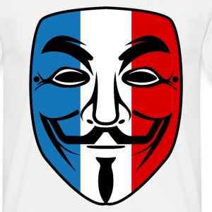 france anonymous mask Tee shirts - T-shirt Homme