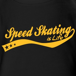 Speed skating is life - retro Bodys Bébés - Body bébé bio manches courtes