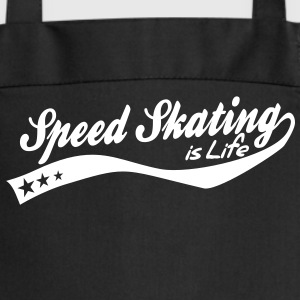 Speed skating is life - retro  Aprons - Cooking Apron