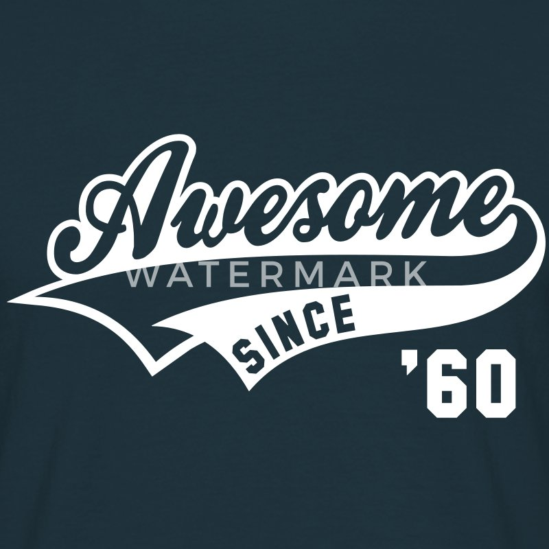 Awesome SINCE 1960 - Birthday Geburtstag Anniversaire T-Shirt WN - Maglietta da uomo