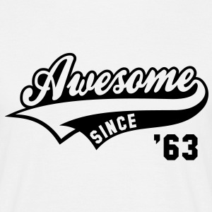 Awesome SINCE 1963 - Birthday Geburtstag Anniversaire T-Shirt BW - Herre-T-shirt