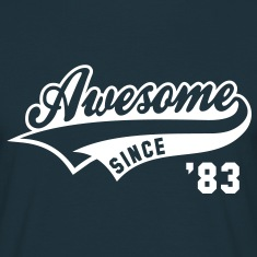 Awesome SINCE 1983 - Birthday Geburtstag Anniversaire T-Shirt WN