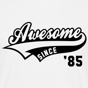Awesome SINCE 1985 - Birthday Geburtstag Anniversaire T-Shirt BW - Herre-T-shirt