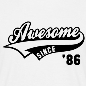 Awesome SINCE 1986 - Birthday Geburtstag Anniversaire T-Shirt BW - Herre-T-shirt
