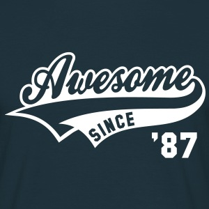 Awesome SINCE 1987 - Birthday Geburtstag Anniversaire T-Shirt WN - T-skjorte for menn