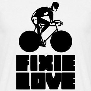 fixie love messenger broken  - T-shirt Homme
