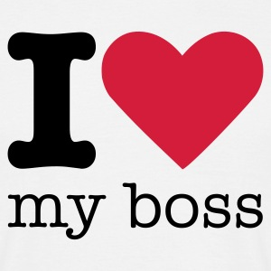 I Love My Boss T-shirts - Mannen T-shirt