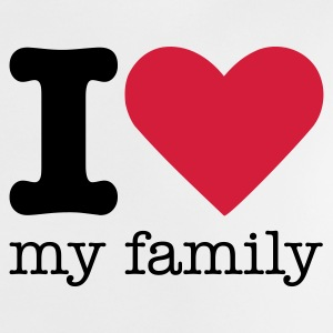 I Love My Family Camisetas Bebés - Camiseta bebé